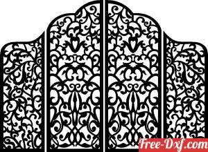 download four Decorative pattern wall Screens Panel for Gate free ready for cut