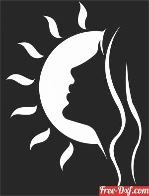 download women in sun cliparts free ready for cut