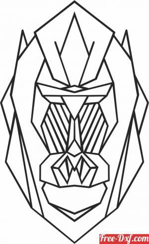 download Geometric Polygon gorilla free ready for cut