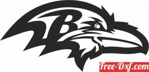 download Baltimore Ravens American football team logo free ready for cut