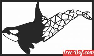 download Humpback Whale polygon free ready for cut