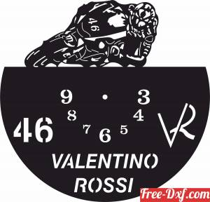 download valentino rossi Wall Clock vinyl free ready for cut