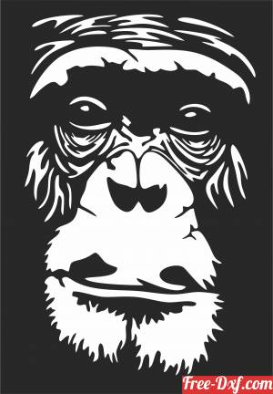 download Gorilla face wall decor free ready for cut