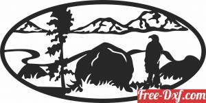 download eagle scene art free ready for cut