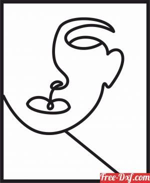 download women face decorative art design free ready for cut