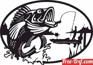 download fishing fish scene clipart free ready for cut