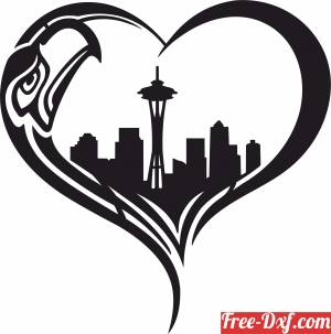 download Seattle Seahawks logo Nfl  American football free ready for cut