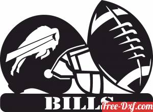 download Buffalo Bills NFL helmet LOGO free ready for cut