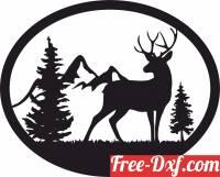 download deer scene art free ready for cut