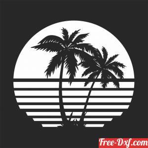download palm scene clipart free ready for cut