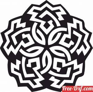 download mandala wall art clipart free ready for cut