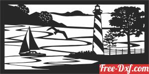 download Nature scene wall decor free ready for cut