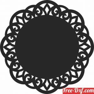 download mandala wall pattern cliparts free ready for cut