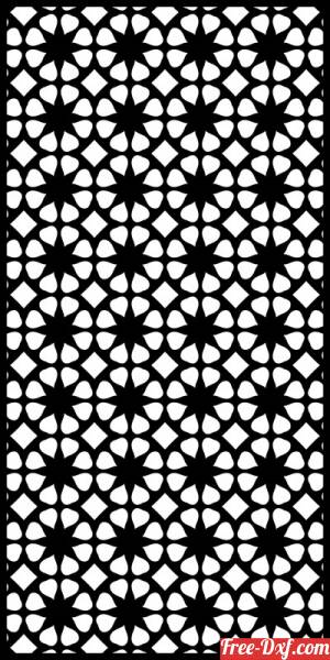 download decorative wall screen pattern panel partition free ready for cut