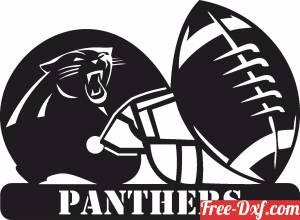 download Carolina Panthers NFL helmet LOGO free ready for cut