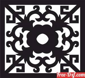 download decorative door panel wall screen pattern free ready for cut