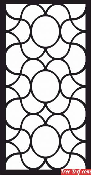 download decorative panel floral screen pattern partition free ready for cut