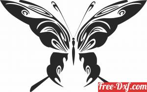 download Butterfly art decor free ready for cut