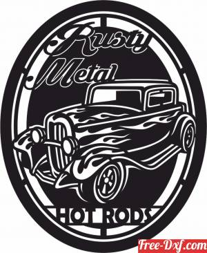 download hot rods classic car silhouette retro signs vectors free ready for cut