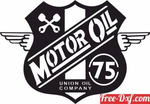 download motor oil union Logo Wakefield Retro Sign free ready for cut
