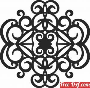 download pattern mandala wall decor cliparts free ready for cut