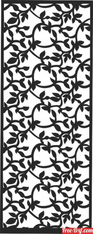 download Panel Doors Windows flowers free ready for cut
