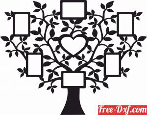 download Pictures Frame Holder memories tree for family member free ready for cut