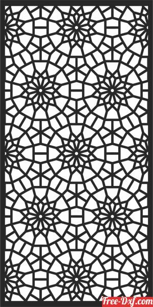 download DECORATIVE  Door  screen   WALL   Screen  wall   PATTERN free ready for cut