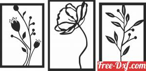 download flowers Wall floral Art free ready for cut