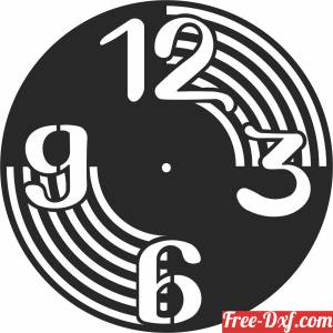 download wall vinyl clock decor free ready for cut