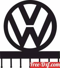 download volkswagen Wall Hooks keys holder free ready for cut