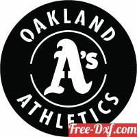 download Oakland Athletics MLB  logo free ready for cut