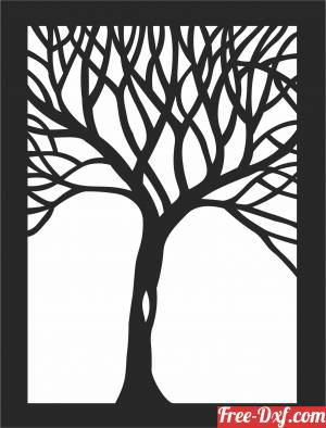 download tree wall decors free ready for cut