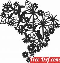 download floral designs with birds free ready for cut