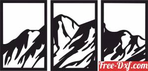 download mountain panel canvas wall decor free ready for cut