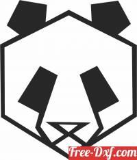 download Geometric Polygon panda free ready for cut