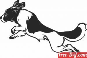download Dog Jumping art clipart free ready for cut