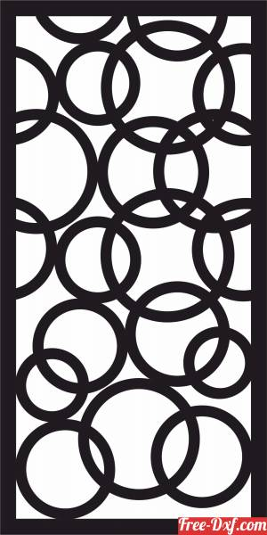 download decorative circles panel screen pattern partition free ready for cut