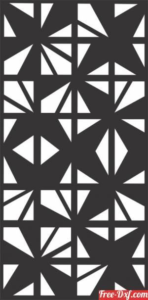 download Decorative pattern wall Screens Panel for doors free ready for cut