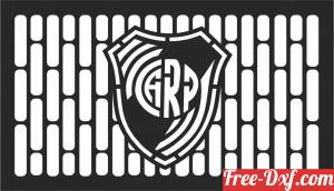 download River Plate Logo Vector Atletico clipart free ready for cut