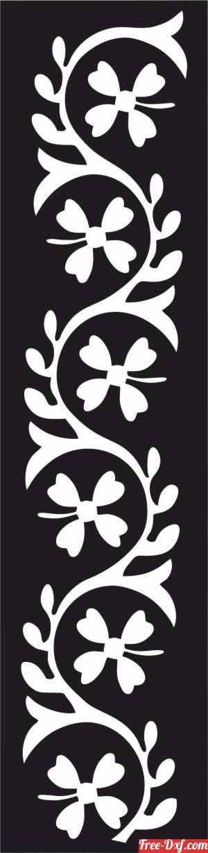 download decorative wall screen flower floral panel door pattern free ready for cut