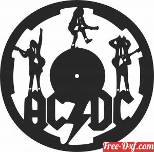 download ACDC Wall Clock Vinyl Record free ready for cut