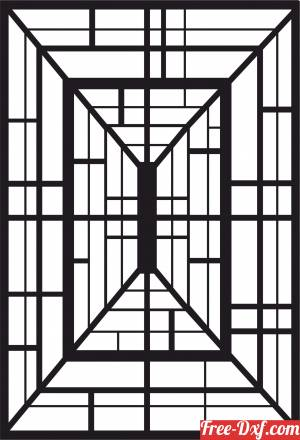 download decorative 3d door panel wall screen pattern free ready for cut