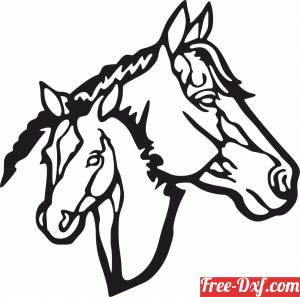 download Horse scene art free ready for cut