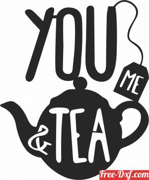 download you me and tea wall cliparts free ready for cut