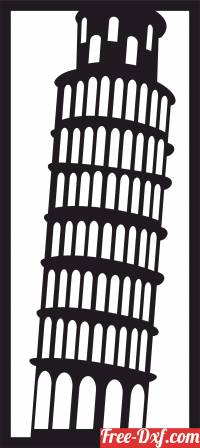 download The Leaning Tower wall decor free ready for cut