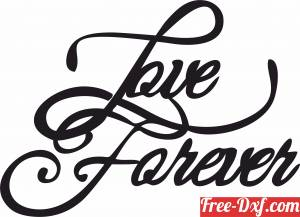 download love forever free ready for cut