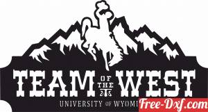 download Wyoming Team of the West Logo cowboys free ready for cut