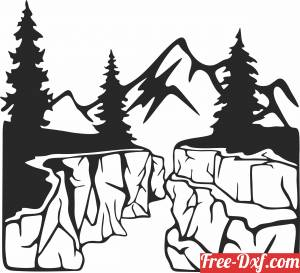 download Mountain scene free ready for cut