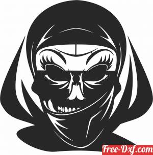 download Horror women Skull cliparts free ready for cut